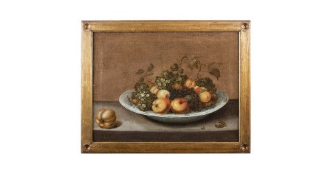 <i>Fruit Still Live in a Bowl,</i> ca. 1640, by Johannes Bouman, offered by rare object