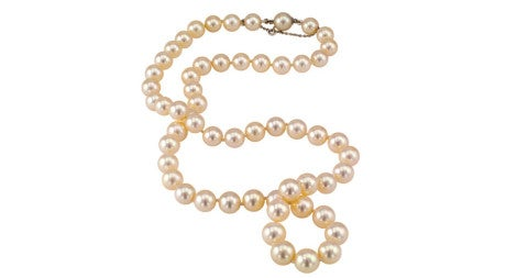 Cultured-pearl necklace, 1960s, offered by Jacob's Diamond & Estate Jewelry