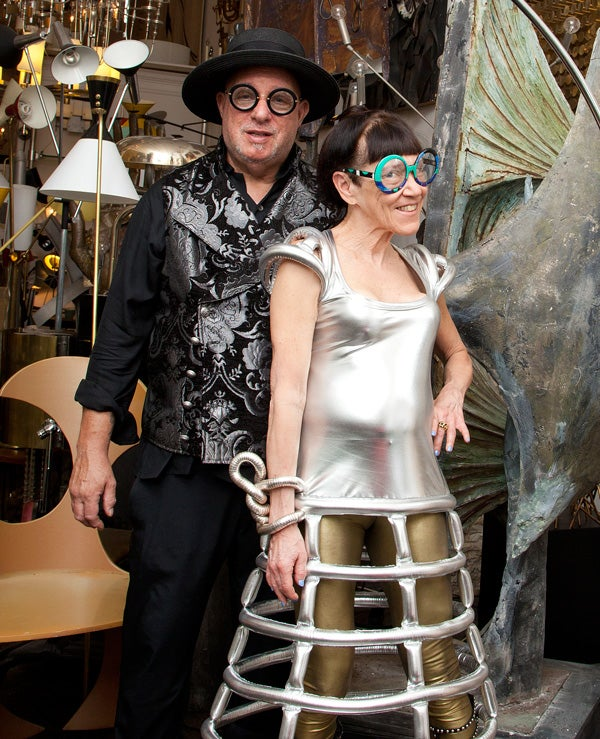 Dealers since 1972, husband and wife Arthur and Bronnie Hindin of New York's Retro Modern Lighting have held on to a certain 1960s look.