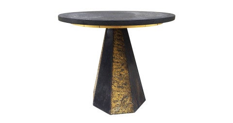 Paul Evans round slate-top table , 1960s, offered by Flavor