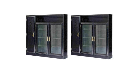 School of Josef Hoffmann pair of bookcases, ca. 1910, offered by Bel Etage