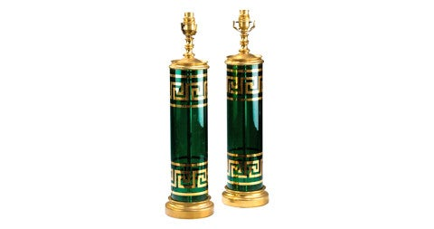 Pair of Art Deco lamps, ca. 1920, offered by Windsor House Antiques Ltd