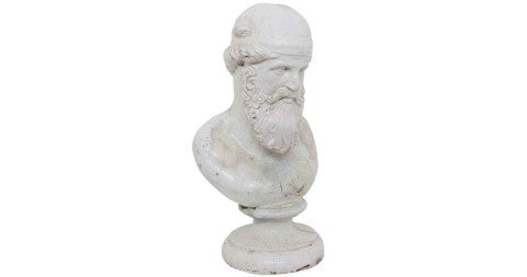 Faience Bust of Aristotle , ca. 17th-century