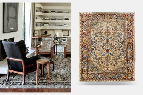 <h2><strong>Q:</strong> What would you prefer on the floor — stone or 19th-century rugs? <strong>A:</strong> Rugs</h2>