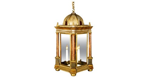 Charles X tole lantern, offered by Mallett New York