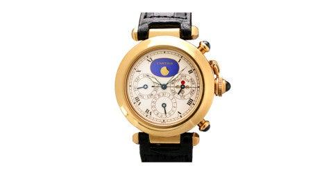 Cartier yellow-gold Pasha watch, offered by Matthew Bain Inc.