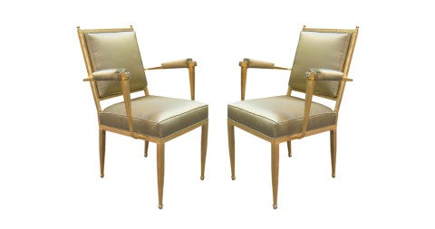 Pair of André Arbus Art Deco armchairs, 1930s, offered by Karl Kemp