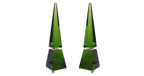 Romano Donà Murano-glass obelisks, 2010, offered by Lewis Trimble