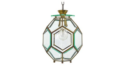 Secessionist pendant lamp in the manner of Adolf Loos, 1900, offered by Vintagerie