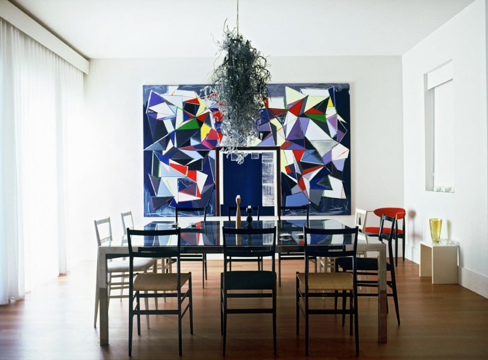 In The Dining Room Of A 2008 Miami Townhouse, Thomas Scheibitzu0027s Eingang  Hangs Over A