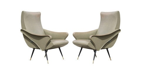 Pair of chairs, mid to late 1950s, offered by Lewis Trimble