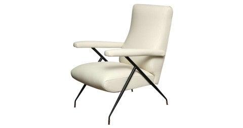 Italian Leather Chair, 1960s