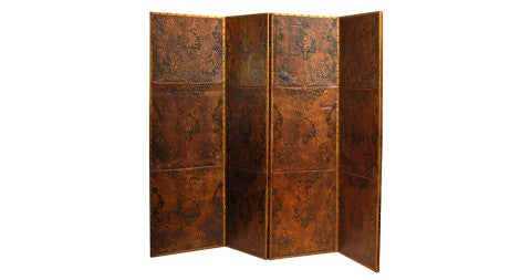 18th-Century Leather Screen