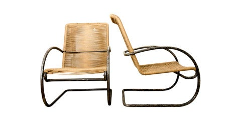 Pair of Chairs in The Style of Marcel Breuer, 1950s