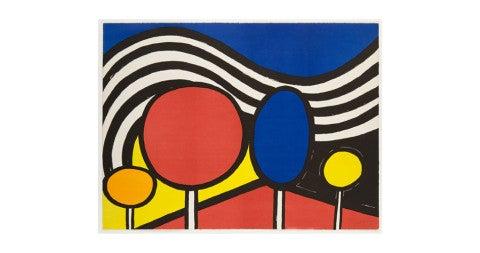 <em>Lollipops</em>, 1976, by Alexander Calder, offered by Clark Gallery