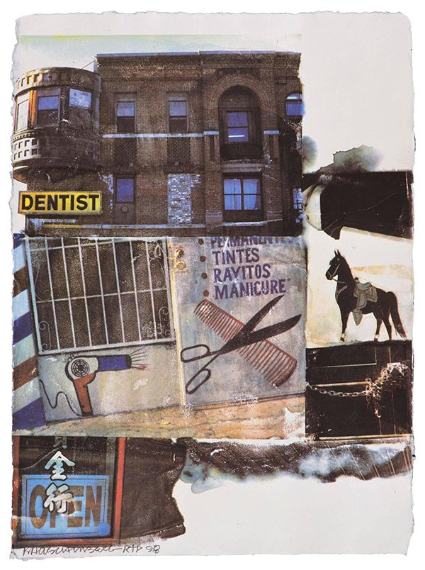 Robert Rauschenberg, L.A. Uncovered #10, 1998, offered by Gemini G.E.L.