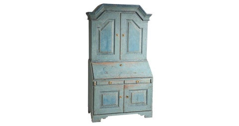 Late Gustavian secretary, 1807, offered by Dawn Hill Antiques