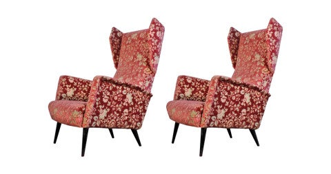 Pair of Giò Ponti for Dassi armchairs, 1950s, offered by deco xx secolo