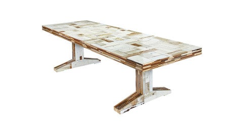 Piet Hein Eek 300 Waste scrap-wood table, 2014, offered by the Future Perfect