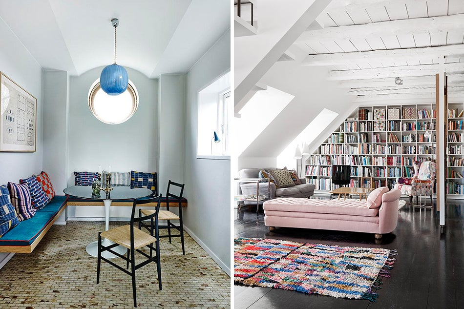 Left: In A 1930s Villa North Of Copenhagen, She Outfitted A Nook With An  Eero Saarinen Dining Table, Giò Ponti For Cassina Chairs, ...
