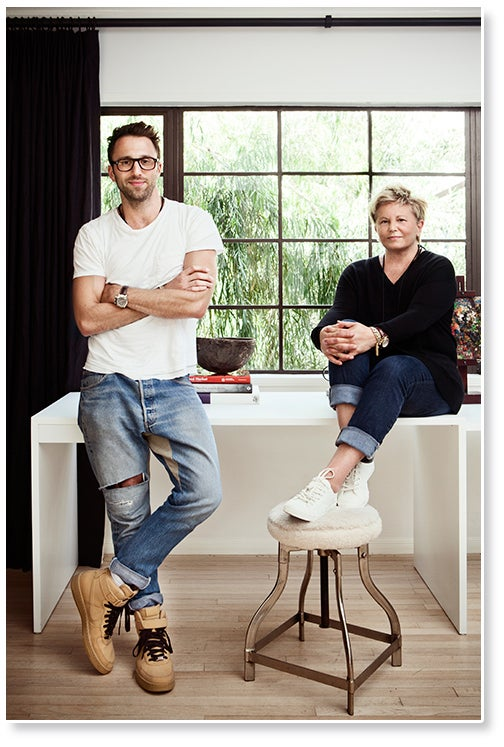 Son-and-mother team Tommy and Kathleen Clements run their interior design studio from Los Angeles. Photo by Sam Frost