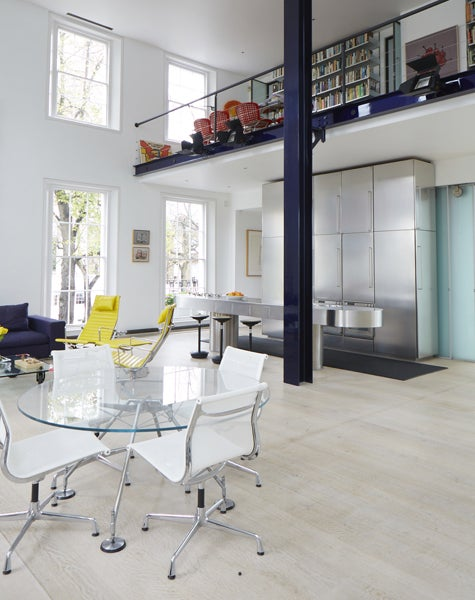 Of The Houseu0027s Main Living Area, With Its Stainless Steel Kitchen, Richard  Says, U201cI Always Want The Feeling Of An Indoor Piazza At A Homeu0027s Center, ...