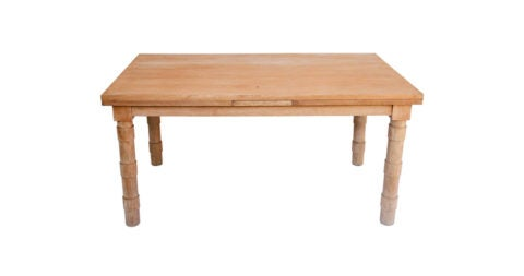 French modernist oak dining table, 20th century, offered by Robert Stilin