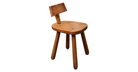 Oak stool, 20th century, offered by Robert Stilin