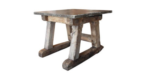 French bluestone-topped table, late 18th century, offered by Galerie Half