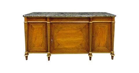 Regency Rosewood, Satinwood and Parcel-Gilt Side Cabinet
