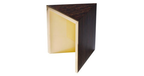 Hervé Langlais Prisme Yellow side table, 2016, offered by Galerie Negropontes