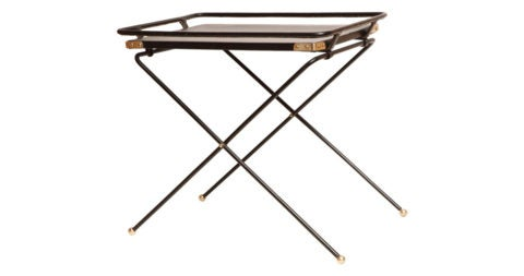 Folding tray table, 1960s, offered by R. Louis Bofferding