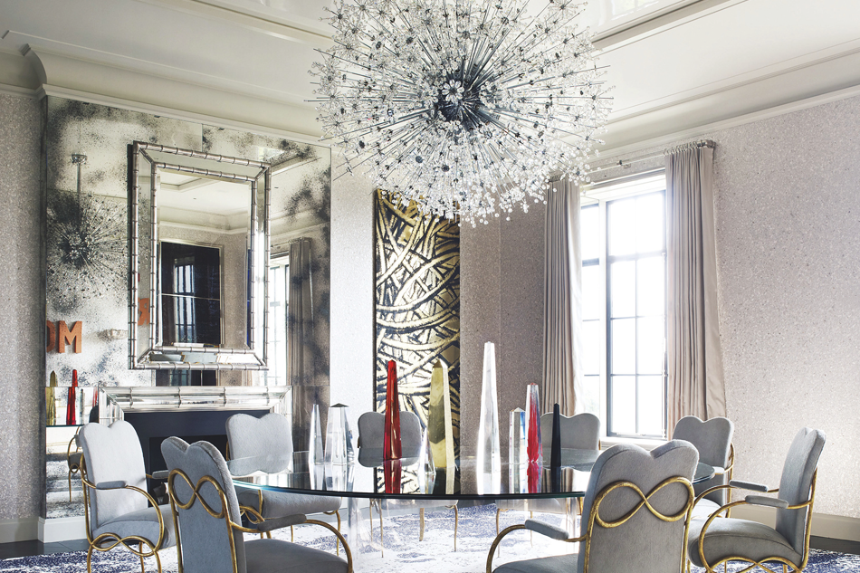 Designers Timothy Haynes And Kevin Roberts Add Sparkle To A Manhattan Apartment With Grandly Scaled Lobmeyr Starburst Photo By William Waldron