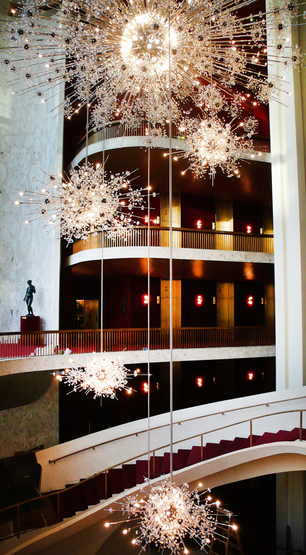 At lobmeyr the past is shimmering and the future crystal clear fifty years after their debut the sparkling starburst chandeliers hanging in new yorks metropolitan opera aloadofball Gallery