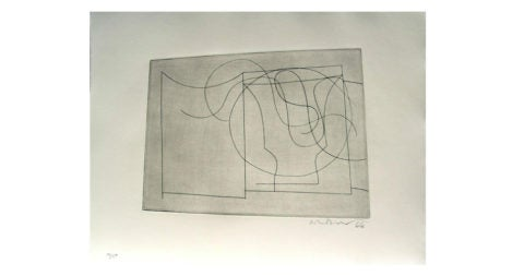 <i>Flowing Forms</i>, 1967, by Ben Nicholson OM, offered by Bernard Jacobson Gallery
