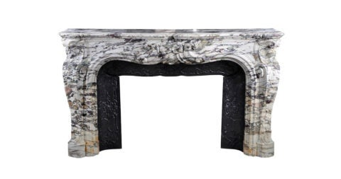 Louis XV–style fireplace, ca. 1880, offered by Marc Maison