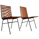 Allan Gould string chairs, 1950s