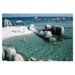 Cavallo Bathers, Corsica, 1984, bySlim Aarons