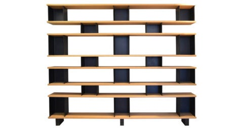 Charlotte Perriand–style shelving unit, early 21st century, offered by Blend Interiors