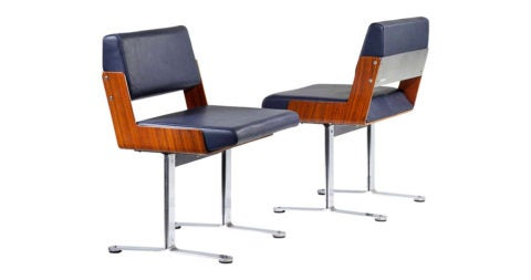 Roger Tallon chairs, 1966, offered by Demisch Danant