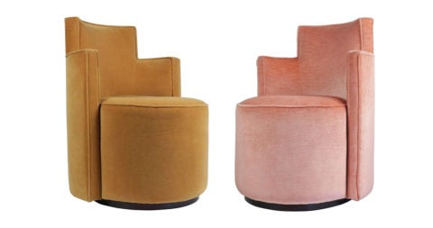 Andrée Putman armchairs for the Wasserturm Hotel, 1990, offered by Vingtieme
