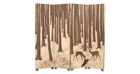 Jean Dunand screen, 1941, offered by Newel