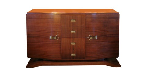 Jacques Adnet buffet, 1940s, offered by Ceylon et Cie
