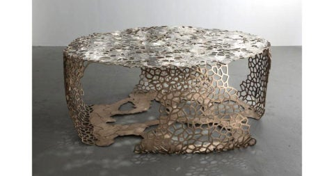 David Wiseman's Lattice Ribbon table, 2015