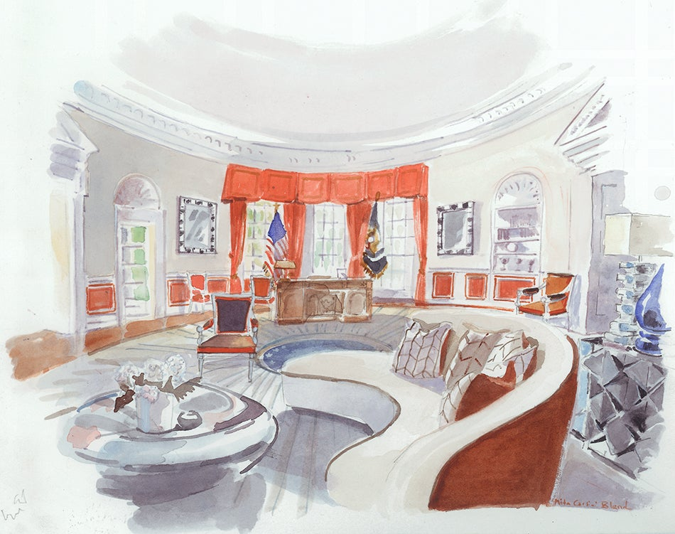 5 Designers Imagine White House Interiors for Clinton and Trump