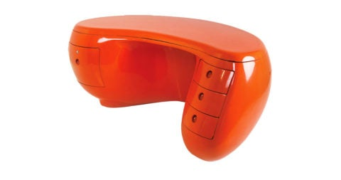 Maurice Calka Boomerang desk, 1970, offered by Maison Gerard