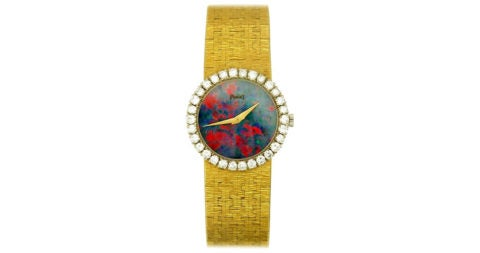 Piaget gold, diamond and opal wristwatch, 1960s, offered by Benchmark of Palm Beach