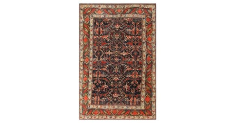Antique Bidjar rug, offered by Nazmiyal Collection