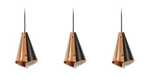 Scandinavian pendant lights, 1960s, offered by NordicFAUNA
