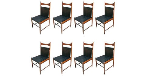 Sergio Rodrigues Cantu chairs, 1960s, offered by Adesso